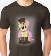 Steampunk Fluttershy (with background) Unisex T-Shirt