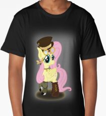 Steampunk Fluttershy (with background) Long T-Shirt