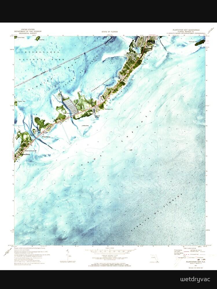 USGS TOPO Map Florida FL Plantation Key 348138 1971 24000 by wetdryvac