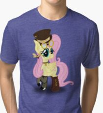 Steampunk Fluttershy (without background) Tri-blend T-Shirt