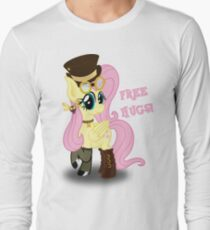 Steampunk Fluttershy - Free Hugs Long Sleeve T-Shirt