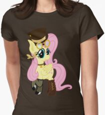 Steampunk Fluttershy (no shadow/background) Womens Fitted T-Shirt