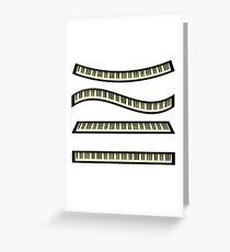 set of keyboards Greeting Card