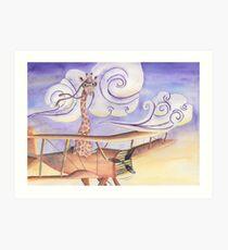 Geronimo the Giraffe Art Print