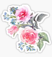 Bouquet of rose Painted Sticker
