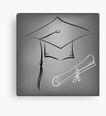 graduation cap Canvas Print