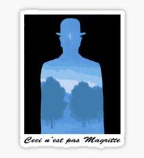 Ceci n'est pas Magritte Sticker