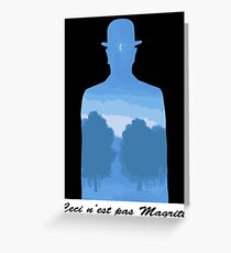 Ceci n'est pas Magritte Greeting Card
