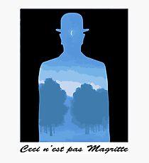 Ceci n'est pas Magritte Photographic Print