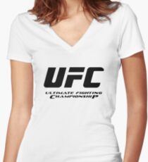 UFC Ultimate Fighting Championship Women's Fitted V-Neck T-Shirt