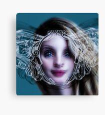 BRIZO surreal girl portrait mermaid nereid and graffiti Canvas Print