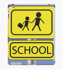yellow school sign iPad Case/Skin