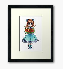 Flower Girl - Happy Birthday Framed Print