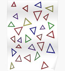 Colourful Triangles Poster