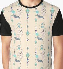 Vintage ethnic tribal aztec bird Graphic T-Shirt