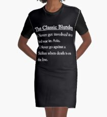 The Classic Blunders Graphic T-Shirt Dress