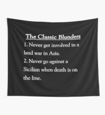 The Classic Blunders Wall Tapestry