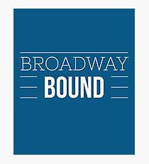 Broadway Bound - Blue Photographic Print
