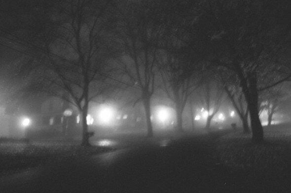 foggy night  by sarastu