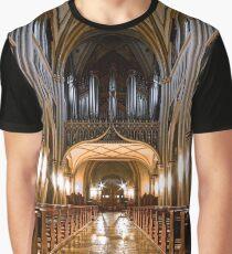 Majestic medieval church interior, Fribourg, Switzerland Graphic T-Shirt