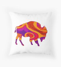 Bison Beauty Throw Pillow