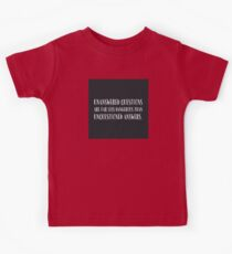 unanswered questions unquestioned answers Kids Tee