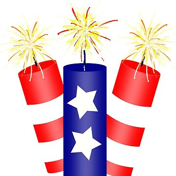 Trio of Firecrackers for the 4th of July  by Gravityx9