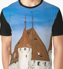 Old castle Thun on Thunersee in Switzerland, HD quality Graphic T-Shirt
