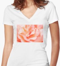 Dew Rose Women's Fitted V-Neck T-Shirt