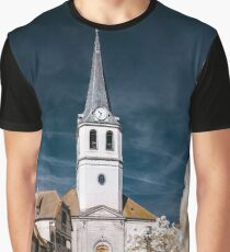 Editorial: 30th March 2017: Ville, France. Infrared view of village street Graphic T-Shirt
