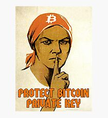 Protect Bitcoin Private Key Photographic Print