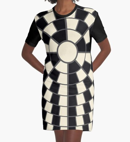 NDVH Circle One - black and cream Graphic T-Shirt Dress