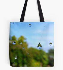 Floating Worlds! - Drops on Webs - NZ Tote Bag