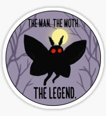 The Man, The Moth, The Legend Sticker