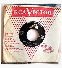 Rockabilly, Elvis Presley,Baby Let's Play House, 45 Poster