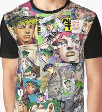Camiseta gráfica JJBA - Rohan Kishibe - Collage