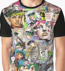 JJBA - Rohan Kishibe - Collage Graphic T-Shirt