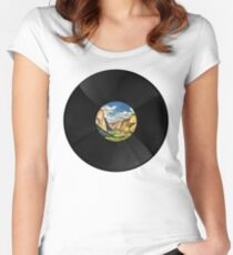 Yosemite Valley Records Women's Fitted Scoop T-Shirt