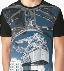 Old metal cranes as the monument in Strasbourg, France Graphic T-Shirt