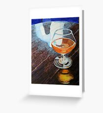 """""""Ale in a wine glass"""" Greeting Card"""