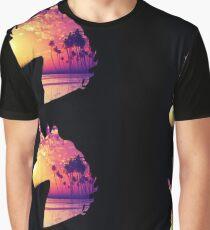 Sunset Beach Unicorn Graphic T-Shirt