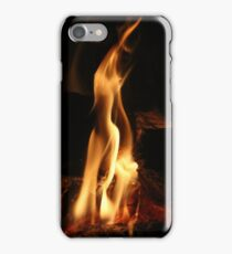 Warming Open Wood Fire iPhone Case/Skin
