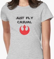Just, Fly Casual Womens Fitted T-Shirt
