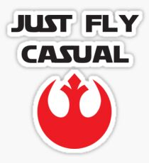 Just, Fly Casual Sticker