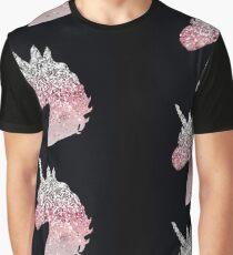 Pink sparkle unicorn  Graphic T-Shirt