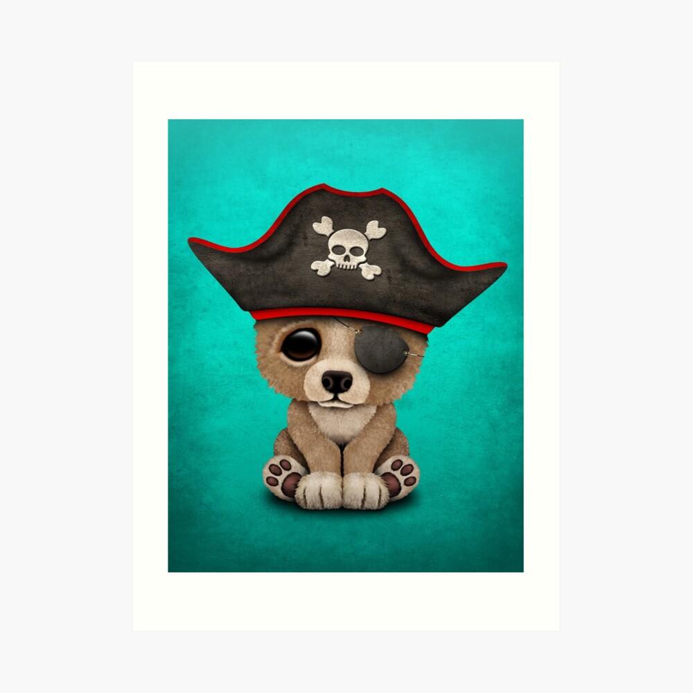 Netter Baby-Bärenjungs-Pirat Kunstdruck
