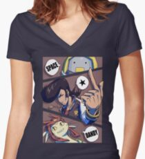 Space Dandy 3 Women's Fitted V-Neck T-Shirt
