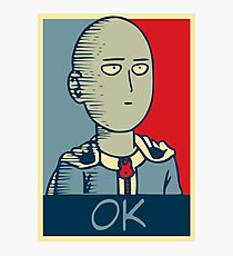 One Punch Man - OK Photographic Print