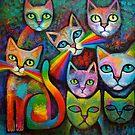 New Cats work in progress by Karin Zeller