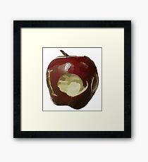Moriarty's IOU apple - Sherlock Framed Print